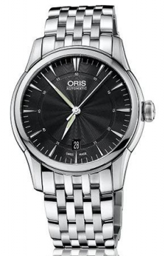 Oris Artelier Date 40mm Mens watch, model number - 0173376704054-0782177, discount price of £775.00 from The Watch Source