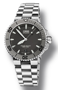Oris Aquis Date 43mm Mens watch, model number - 0173376764153-0782110P, discount price of £1,000.00 from The Watch Source
