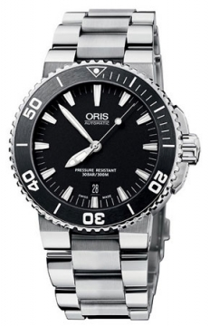 Oris Aquis Date 43mm Mens watch, model number - 0173376764154-0782110P, discount price of £935.00 from The Watch Source