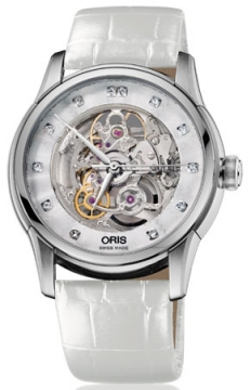Oris Artelier Skeleton Diamonds Mens watch, model number - 0173476704019-0752167FC, discount price of £1,310.00 from The Watch Source