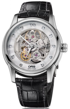 Oris Artelier Skeleton Diamonds Mens watch, model number - 0173476704019-0752170FC, discount price of £1,310.00 from The Watch Source