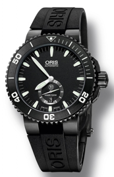 Oris Aquis Titan Small Second, Date 46mm Mens watch, model number - 0173976747754-0742634BTE, discount price of £1,350.00 from The Watch Source
