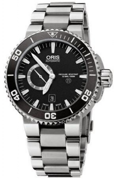 Oris Aquis Titan Small Second, Date 46mm Mens watch, model number - 0174376647154-0782675PEB, discount price of £1,295.00 from The Watch Source