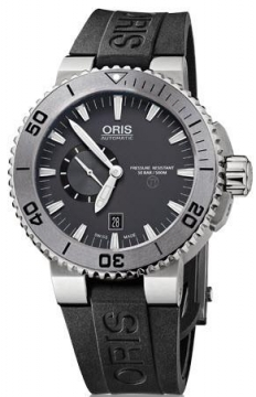 Oris Aquis Titan Small Second, Date 46mm Mens watch, model number - 0174376647253-0742634TEB, discount price of £1,270.00 from The Watch Source
