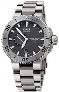 Oris Aquis Titan Small Second, Date 46mm Mens watch, model number - 0174376647253-0782675PEB, discount price of £1,340.00 from The Watch Source