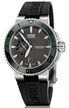 Oris Aquis Small Second, Date 46mm Mens watch, model number - 0174376734157-0742634EB, discount price of £1,105.00 from The Watch Source