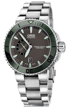Oris Aquis Small Second, Date 46mm Mens watch, model number - 0174376734157-0782601PEB, discount price of £1,160.00 from The Watch Source