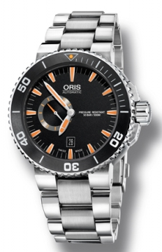 Oris Aquis Small Second, Date 46mm Mens watch, model number - 0174376734159-0782601PEB, discount price of £1,160.00 from The Watch Source