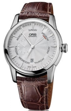 Oris Artelier Small Second, Pointer Day Mens watch, model number - 0174576664051-0752370FC, discount price of £1,065.00 from The Watch Source