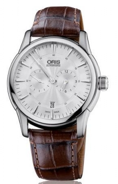 Oris Artelier Regulateur Mens watch, model number - 0174976674051-0712173FC, discount price of £1,185.00 from The Watch Source