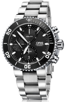 Oris Aquis Chronograph 46mm Mens watch, model number - 0177476554154-0782601PEB, discount price of £1,950.00 from The Watch Source