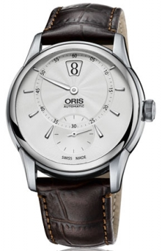 Oris Artelier Jumping Hour Mens watch, model number - 0191777024051-0752170FC, discount price of £2,335.00 from The Watch Source