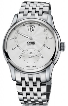 Oris Artelier Jumping Hour Mens watch, model number - 0191777024051-0782177, discount price of £2,390.00 from The Watch Source