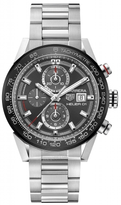 Buy this new Tag Heuer Carrera Caliber Heuer 01 43mm car201w.ba0714 mens watch for the discount price of £3,650.00. UK Retailer.