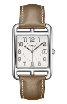 Hermes Cape Cod Quartz Large TGM Midsize watch, model number - 027453WW00, discount price of £1,768.00 from The Watch Source