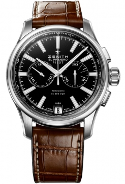 Zenith Pilot Chronograph Mens watch, model number - 03.2117.4002/23.c704, discount price of £4,265.00 from The Watch Source