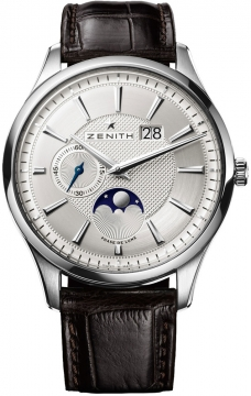 Zenith Captain Moonphase Mens watch, model number - 03.2140.691/02.c498, discount price of £4,490.00 from The Watch Source