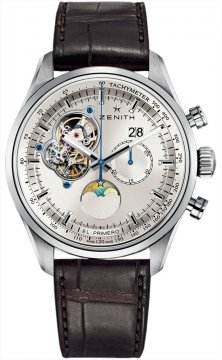 Zenith El Primero Chronomaster Open Grande Date Mens watch, model number - 03.2160.4047/01.c713, discount price of £7,545.00 from The Watch Source