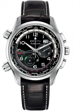 Zenith Pilot Doublematic Mens watch, model number - 03.2400.4046/21.c721, discount price of £9,445.00 from The Watch Source