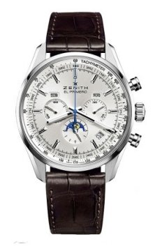 Zenith El Primero 410 Complete Calendar Moonphase Mens watch, model number - 03.2091.410/01.c494, discount price of £5,760.00 from The Watch Source
