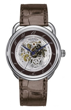 Hermes Arceau Squelette Automatic TGM 41mm Mens watch, model number - 035081WW00, discount price of £5,193.00 from The Watch Source