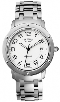 Hermes Clipper Automatic GM 39mm Midsize watch, model number - 035131WW00, discount price of £2,907.00 from The Watch Source