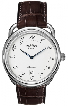 Hermes Arceau Automatic TGM 41mm Mens watch, model number - 035183WW00, discount price of £2,610.00 from The Watch Source