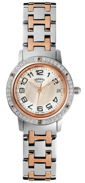 Hermes Clipper Quartz PM 24mm Ladies watch, model number - 035323WW00, discount price of £4,347.00 from The Watch Source