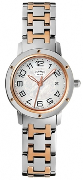 Hermes Clipper Quartz MM 28mm Ladies watch, model number - 035345WW00, discount price of £3,118.00 from The Watch Source