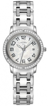 Hermes Clipper Quartz MM 28mm Ladies watch, model number - 035346WW00, discount price of £4,140.00 from The Watch Source