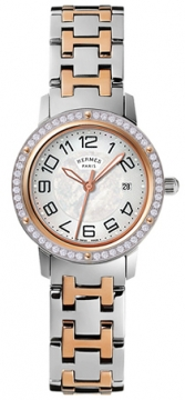 Hermes Clipper Quartz MM 28mm Ladies watch, model number - 035348WW00, discount price of £4,590.00 from The Watch Source