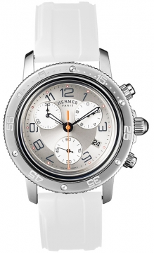 Hermes Clipper Chrono Quartz GM 36mm Midsize watch, model number - 035366WW00, discount price of £2,277.00 from The Watch Source