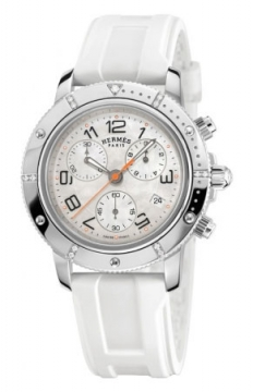 Hermes Clipper Chrono Quartz GM 36mm Midsize watch, model number - 035371WW00, discount price of £2,781.00 from The Watch Source