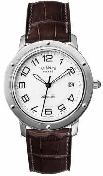 Hermes Clipper Automatic GM 39mm Midsize watch, model number - 035372WW00, discount price of £2,488.00 from The Watch Source