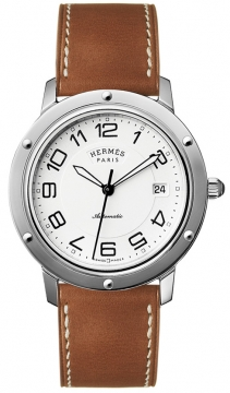 Hermes Clipper Automatic GM 39mm Midsize watch, model number - 035373WW00, discount price of £2,340.00 from The Watch Source