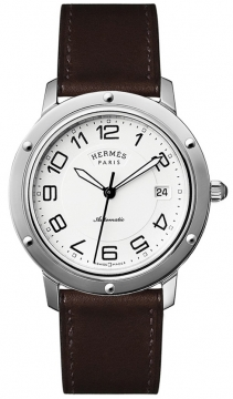 Hermes Clipper Automatic GM 39mm Midsize watch, model number - 035374WW00, discount price of £2,340.00 from The Watch Source