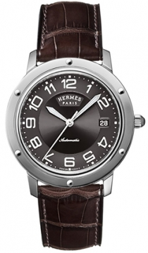 Hermes Clipper Automatic GM 39mm Midsize watch, model number - 035375WW00, discount price of £2,488.00 from The Watch Source