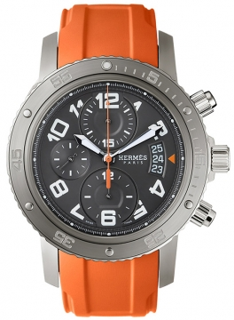 Hermes Clipper Chrono Automatic Maxi 44mm Mens watch, model number - 035437WW00, discount price of £4,347.00 from The Watch Source