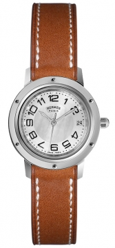 Hermes Clipper Quartz PM 24mm Ladies watch, model number - 035748WW00, discount price of £1,408.00 from The Watch Source