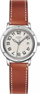 Hermes Clipper Quartz MM 28mm Ladies watch, model number - 035821WW00, discount price of £1,467.00 from The Watch Source