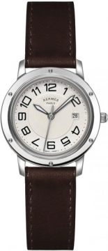 Hermes Clipper Quartz MM 28mm Ladies watch, model number - 035822WW00, discount price of £1,467.00 from The Watch Source