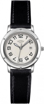 Hermes Clipper Quartz MM 28mm Ladies watch, model number - 035823WW00, discount price of £1,467.00 from The Watch Source