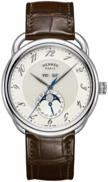 Hermes Arceau Grande Lune Automatic 43mm Mens watch, model number - 036756ww00, discount price of £4,280.00 from The Watch Source
