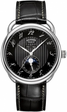 Hermes Arceau Grande Lune Automatic 43mm Mens watch, model number - 036759ww00, discount price of £4,280.00 from The Watch Source