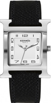Hermes H Hour Quartz Large TGM Midsize watch, model number - 036832WW00, discount price of £1,498.00 from The Watch Source