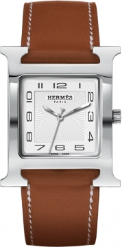 Hermes H Hour Quartz Large TGM Midsize watch, model number - 036833WW00, discount price of £1,498.00 from The Watch Source