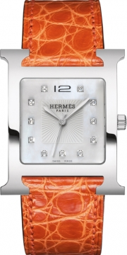 Hermes H Hour Quartz Large TGM Midsize watch, model number - 036840WW00, discount price of £3,140.00 from The Watch Source