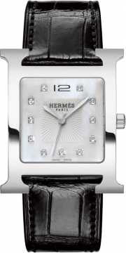 Hermes H Hour Quartz Large TGM Midsize watch, model number - 036841WW00, discount price of £3,447.00 from The Watch Source