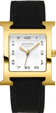 Hermes H Hour Quartz Large TGM Midsize watch, model number - 036843WW00, discount price of £1,620.00 from The Watch Source