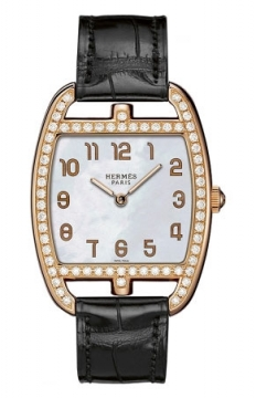 Hermes Cape Cod Tonneau Quartz Medium GM Ladies watch, model number - 037655WW00, discount price of £17,460.00 from The Watch Source